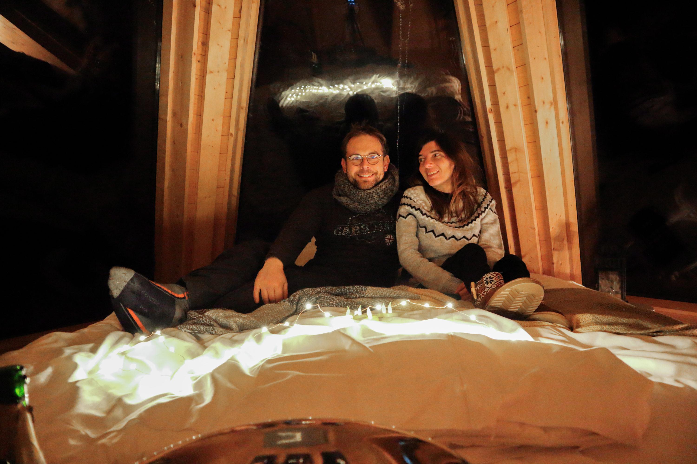 Nuit dans un tipi au toit de verre - Aurora Hideaway