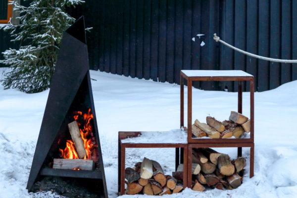 Feu de bois Laponie