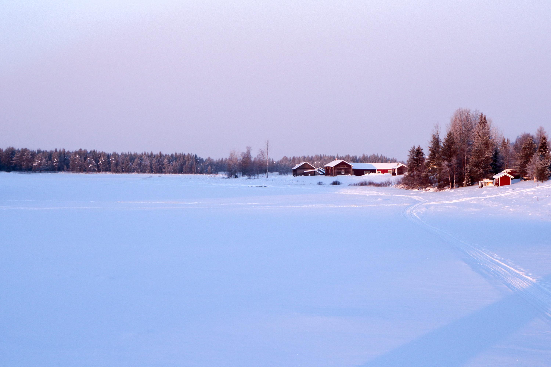 Lac gelé de Laponie
