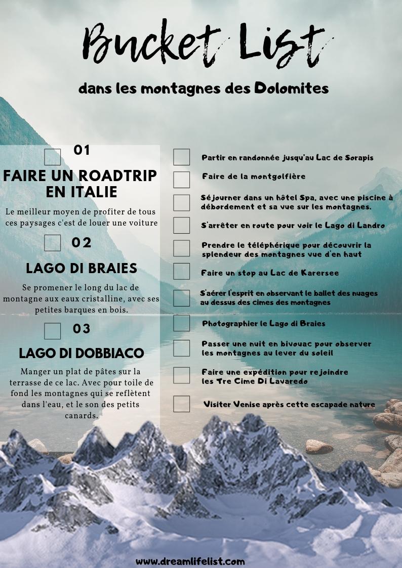 Bucketlist Dolomites