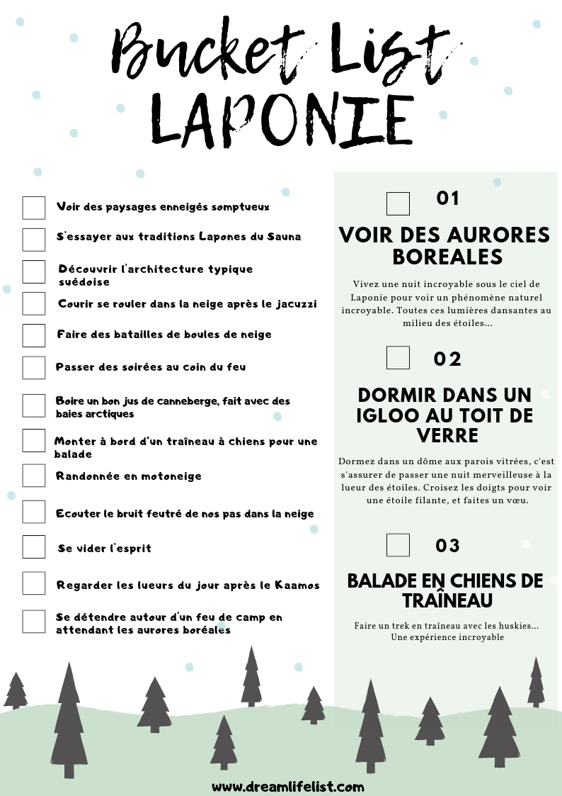 Bucket list Laponie