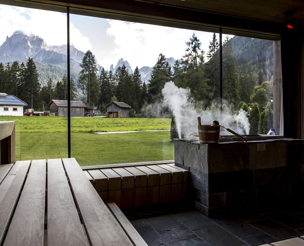 Sauna hotel dolomites