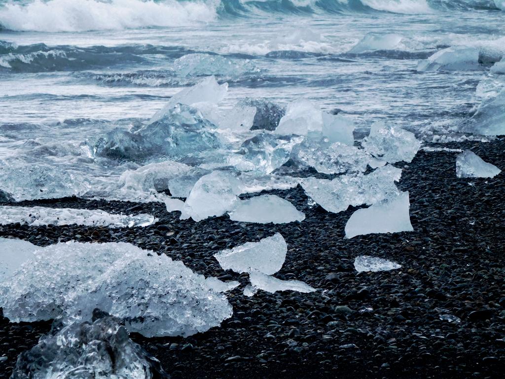 plage de diamant islande